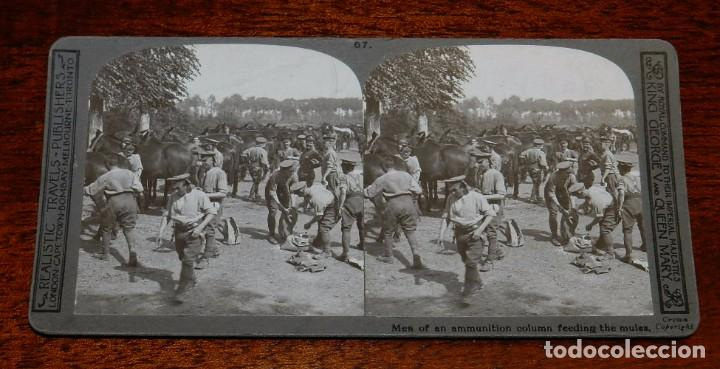 Militaria: 10 Fotografias estereoscopicas de la I Guerra Mundial. Ed. Realistic Travels, London, Num. 66, 67, 6 - Foto 2 - 103039979