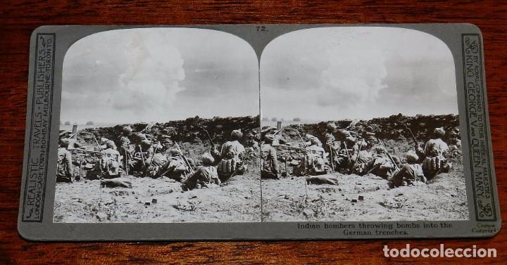 Militaria: 10 Fotografias estereoscopicas de la I Guerra Mundial. Ed. Realistic Travels, London, Num. 66, 67, 6 - Foto 6 - 103039979