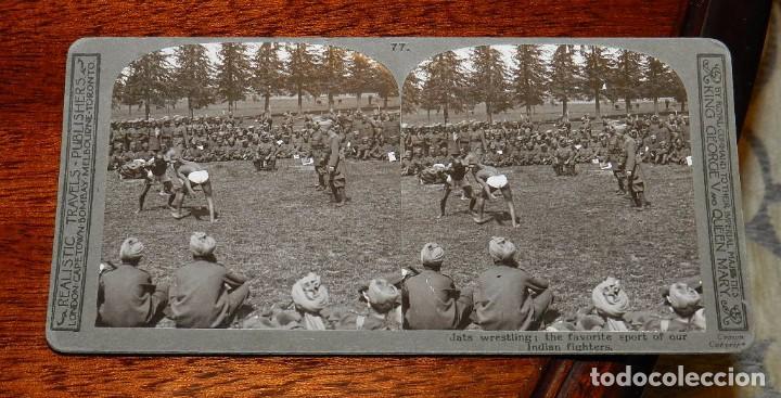 Militaria: 10 Fotografias estereoscopicas de la I Guerra Mundial. Ed. Realistic Travels, London, Num. 66, 67, 6 - Foto 10 - 103039979