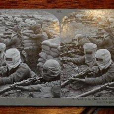 Militaria: 10 FOTOGRAFIAS ESTEREOSCOPICAS DE LA I GUERRA MUNDIAL. ED. REALISTIC TRAVELS, LONDON, NUM. 79, 82, 8. Lote 103040331
