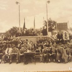 Militaria: ANTIGUA FOTOGRAFIA ACTO DE FALANGE EN MEMORIA DE MENACHO, BADAJOZ. Lote 103087071