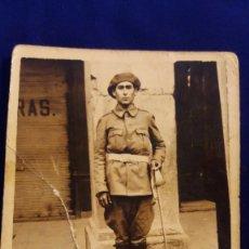 Militaria: FOTOGRAFIA ARTILLERO ESPAÑOL CARLISTA, GUERRA CIVIL. Lote 103175455