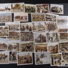 Militaria: DER WELTKRIEG 35 FOTOS- CROMOS I GUERRA MUNDIAL EN COLOR . AÑO 1936. Lote 103209207