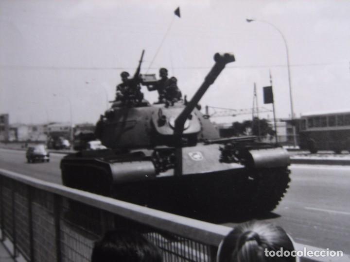 FOTOGRAFÍA CARRO DE COMBATE DEL EJÉRCITO ESPAÑOL. DIVISIÓN ACORAZADA BRUNETE (Militar - Fotografía Militar - Otros)
