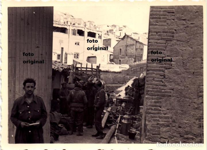 DEPOSITO MILITAR ALCAÑIZ (TERUEL) PLENA GUERRA CIVIL CTV LEGION CONDOR (Militar - Fotografía Militar - Guerra Civil Española)