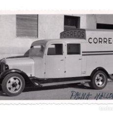 Militaria: FOTOGRAFÍA.- COCHE DE CORREOS - PALMA DE MALLORCA - 14 X 8,5 CM. Lote 103684435