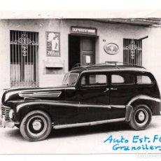 Militaria: FOTOGRAFÍA.- COCHE DE CORREOS - GRANOLLERS - CATALUÑA - AUTO ESTACIÓN FERROCARRILES - 10,5 X 7,5 CM. Lote 103707539