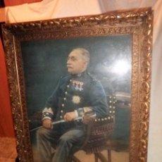 Militaria: CUADRO DE CORONEL DEL EJERCITO ESPAÑOL SIGLO XIX - GRAN FORMATO.. Lote 103788423