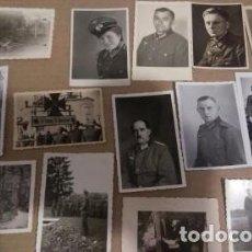 Militaria: LOTE 14 FOTOGRAFIAS ORIGINALES SOLDADOS ALEMANES SEGUNDA GUERRA MUNDIAL. Lote 104122991