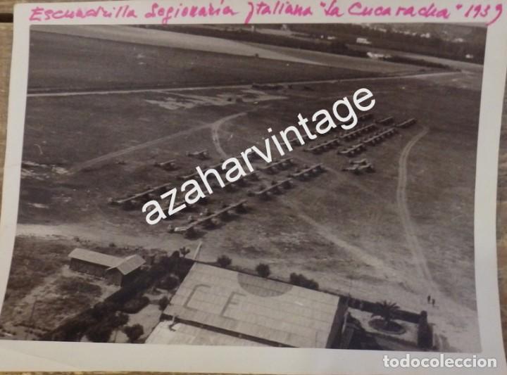 SEVILLA, 1939, AERODROMO DE TABLADA, AVIACION LEGIONARIA, LA CUCARACHA, ESPECTACULAR (Militar - Fotografía Militar - Guerra Civil Española)