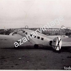 Militaria: SEVILLA, GUERRA CIVIL, AERODROMO DE TABLADA,AVION DE LA AVIACION LEGIONARIA,195 X125MM. Lote 104395627