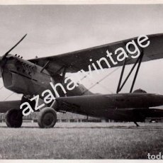 Militaria: SEVILLA, GUERRA CIVIL,AERODROMO DE TABLADA, AVION DE LA AVIACION LEGIONARIA,195 X125MM. Lote 104395759