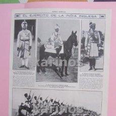 Militaria: 1914 I G.M. ESCUADRÓN DE CABALLERÍA ANGLO – INDIA EN MARNE. CALDAS DE MOONTBUY MANIOBRAS DE ARTILLER. Lote 104719735