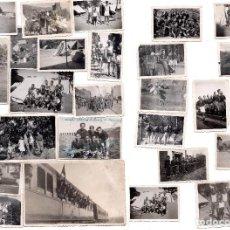 Militaria: FOTOGRAFIAS OJE FRENTE DE JUVENTUDES. CAMPAMENTOS MADRID, ZARAGOZA, BIESCAS , HUESCA, ROBLEDO 1944. Lote 105108819