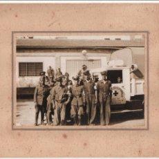 Militaria: SEVILLA, GRUPO MILITARES DE LA CRUZ ROJA, REVERSO,... GABINETE CIVIL 2ª DIVISION ORGANICA-CENSURADO,. Lote 105587195