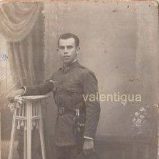 Militaria - Antigua fotografía. Militar Regimiento Infantería con bayoneta. Serafín Sastre, Palma. Años 20. cc - 106549815