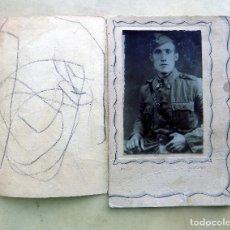 Militaria: ANTIGUA FOTOGRAFIA MILITAR. FOTOGRAFO: GRACIA. CALATAYUD. Lote 106712631