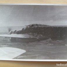 Militaria: GUERRA CIVIL - AVIACION : FOTO DE AVION SAVOIA - 79 EN VUELO DE LA AVIACION LEGIONARIA. Lote 107929843