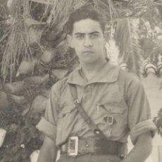 Militaria: FOTOGRAFÍA GUERRA CIVIL - SOLDADO BANDO NACIONAL - DETENTE BALA CARLISTA . Lote 107932771