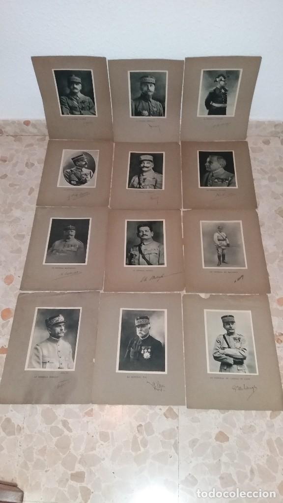 LOTE LAMINAS FOTOGRAFICAS GENERALES FRANCESES, 1ª G.M. (Militar - Fotografía Militar - I Guerra Mundial)