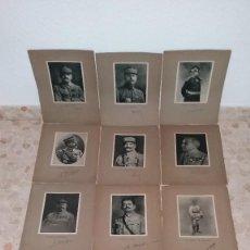 Militaria: LOTE LAMINAS FOTOGRAFICAS GENERALES FRANCESES, 1ª G.M.. Lote 108829019