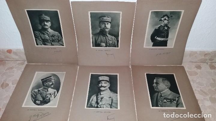 Militaria: LOTE LAMINAS FOTOGRAFICAS GENERALES FRANCESES, 1ª G.M. - Foto 2 - 108829019