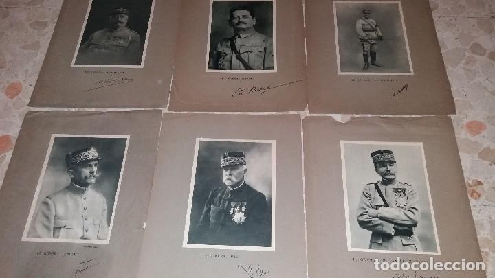 Militaria: LOTE LAMINAS FOTOGRAFICAS GENERALES FRANCESES, 1ª G.M. - Foto 3 - 108829019