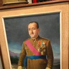 Militaria: MAGNIFICO RETRATO DE MILITAR DE LA GUERRA CIVIL. Lote 109274727