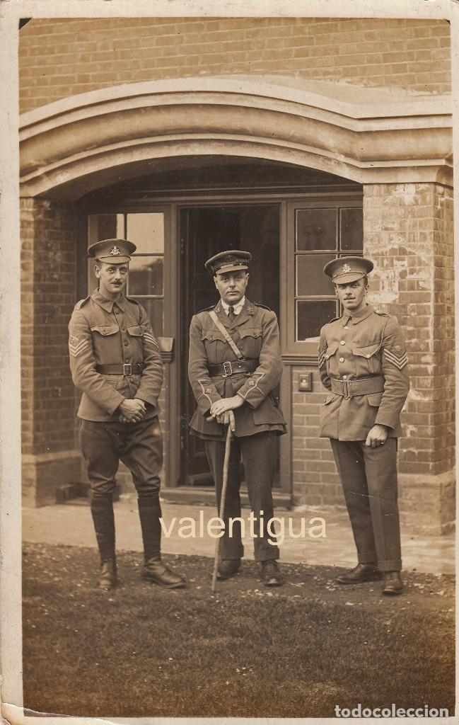 MAGNÍFICA FOTOGRAFÍA MILITARES NEOZELANDESES BRITÁNICOS I GUERRA MUNDIAL. UNIFORME SARGENTO MAYOR CC (Militar - Fotografía Militar - I Guerra Mundial)
