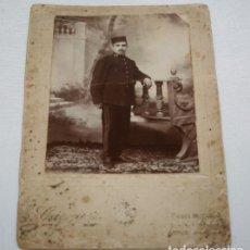 Militaria: FOTOGRAFIA ANTIGUA, MILITAR DE LA EPOCA DE ALFONSO XIII, 15, FOTO GARQUEZ ALGECIRAS. Lote 110268219
