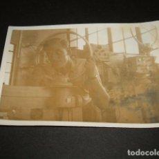 Militaria: LEON GUERRA CIVIL CAMPO DE AVIACION MECANICO TRANSMISIONES LEGION CONDOR FOTOGRAFIA . Lote 110299659