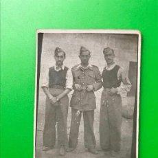 Militaria: FOTOGRAFIA ANTIGUA MILITARES - MILICIANOS 6 X 8 CM. Lote 110401851