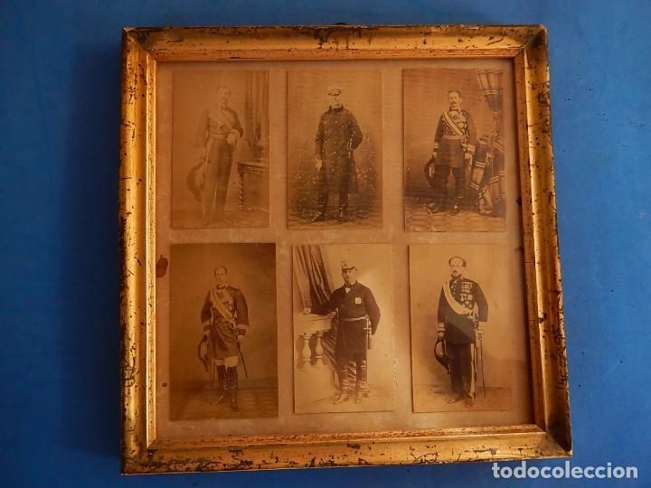 Militaria: Seis fotografías enmarcadas de Generales Españoles. Siglo XIX. - Foto 2 - 110507295