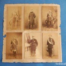 Militaria: SEIS FOTOGRAFÍAS ENMARCADAS DE GENERALES ESPAÑOLES. SIGLO XIX.. Lote 110507295