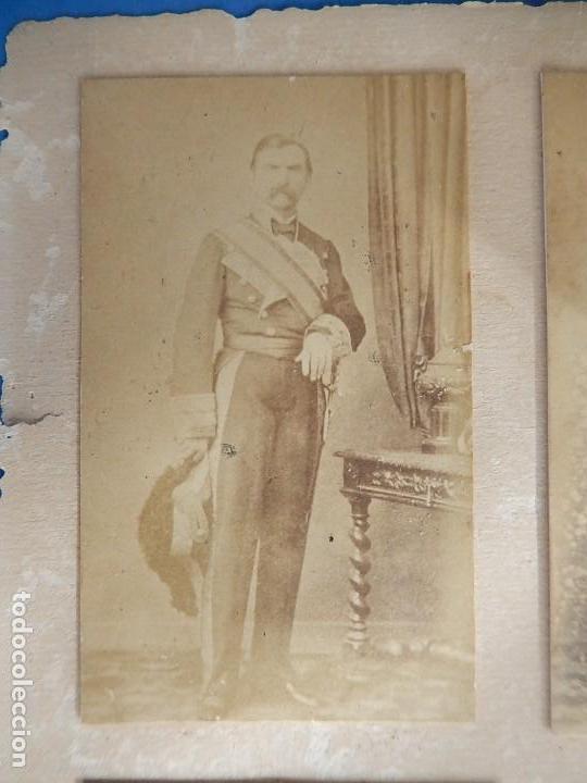 Militaria: Seis fotografías enmarcadas de Generales Españoles. Siglo XIX. - Foto 7 - 110507295