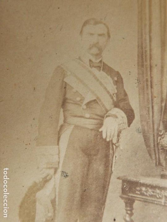 Militaria: Seis fotografías enmarcadas de Generales Españoles. Siglo XIX. - Foto 8 - 110507295