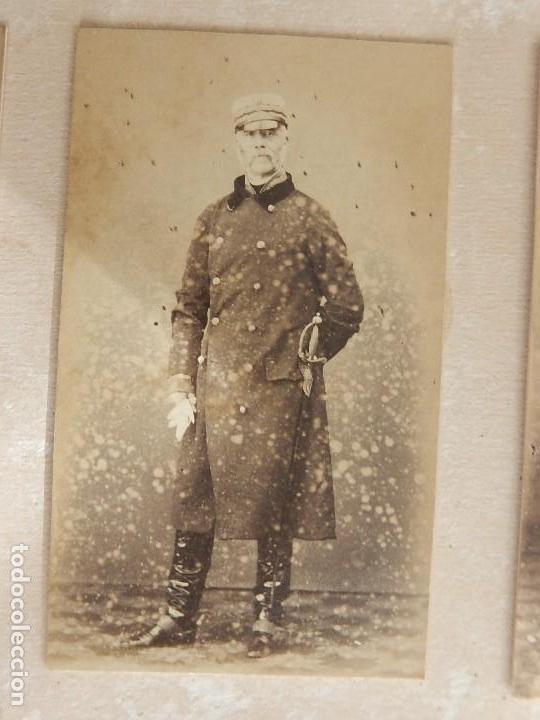 Militaria: Seis fotografías enmarcadas de Generales Españoles. Siglo XIX. - Foto 9 - 110507295