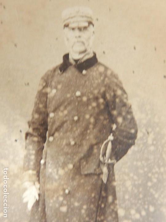 Militaria: Seis fotografías enmarcadas de Generales Españoles. Siglo XIX. - Foto 10 - 110507295