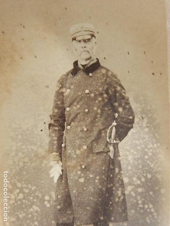 Militaria: Seis fotografías enmarcadas de Generales Españoles. Siglo XIX. - Foto 11 - 110507295