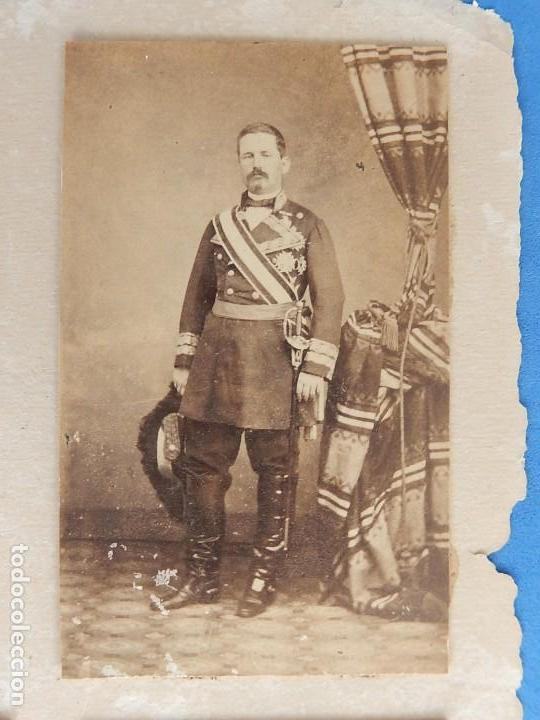 Militaria: Seis fotografías enmarcadas de Generales Españoles. Siglo XIX. - Foto 12 - 110507295