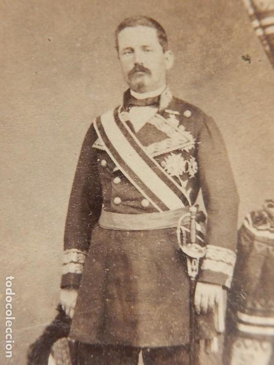 Militaria: Seis fotografías enmarcadas de Generales Españoles. Siglo XIX. - Foto 13 - 110507295