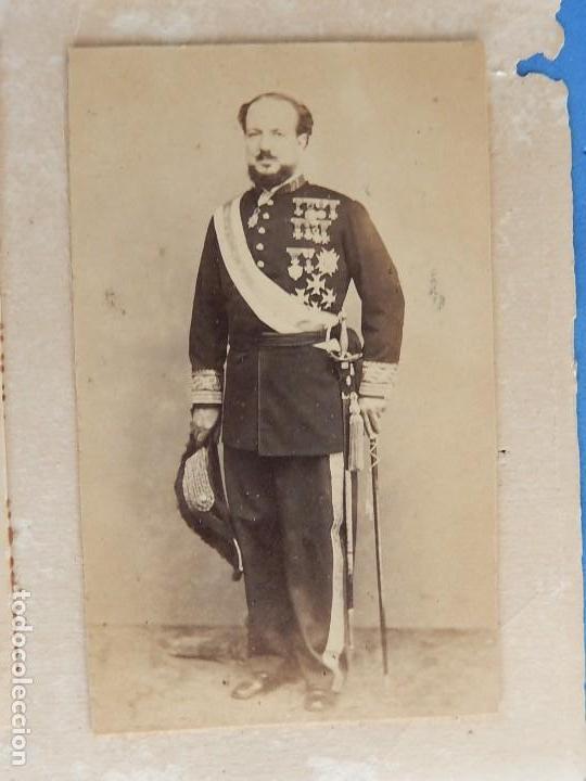 Militaria: Seis fotografías enmarcadas de Generales Españoles. Siglo XIX. - Foto 3 - 110507295