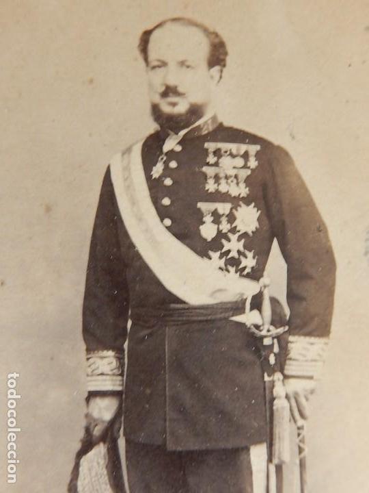 Militaria: Seis fotografías enmarcadas de Generales Españoles. Siglo XIX. - Foto 4 - 110507295