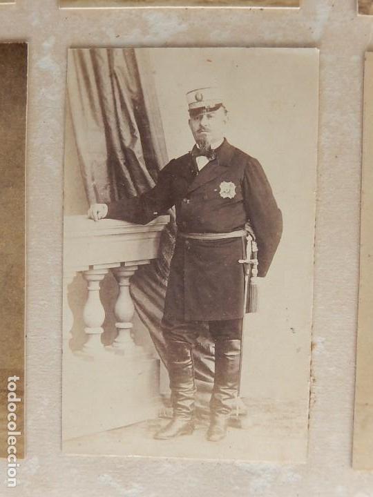 Militaria: Seis fotografías enmarcadas de Generales Españoles. Siglo XIX. - Foto 14 - 110507295