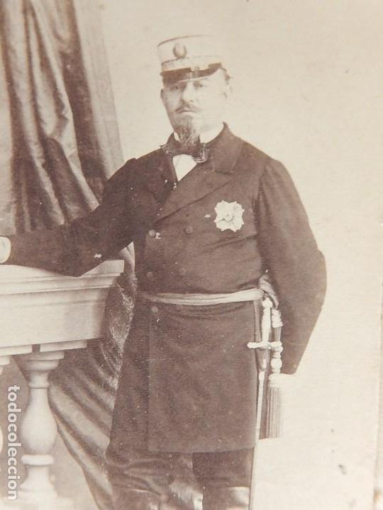 Militaria: Seis fotografías enmarcadas de Generales Españoles. Siglo XIX. - Foto 15 - 110507295