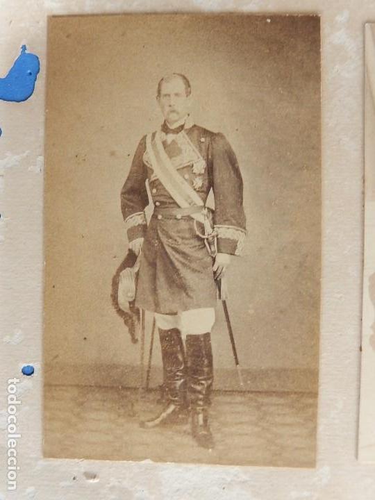 Militaria: Seis fotografías enmarcadas de Generales Españoles. Siglo XIX. - Foto 5 - 110507295
