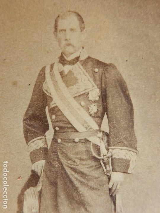 Militaria: Seis fotografías enmarcadas de Generales Españoles. Siglo XIX. - Foto 6 - 110507295