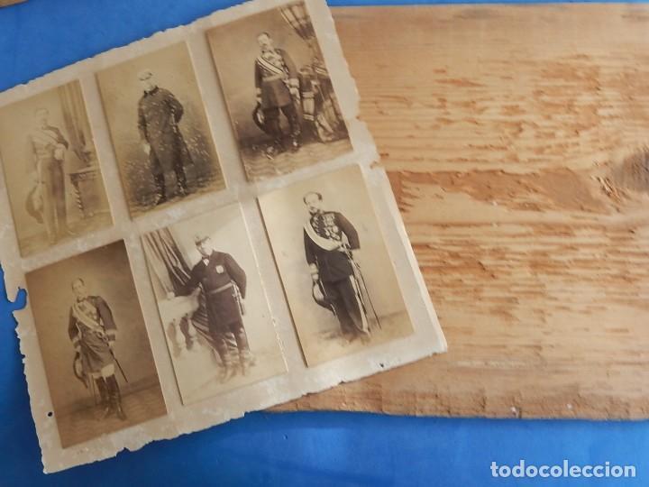 Militaria: Seis fotografías enmarcadas de Generales Españoles. Siglo XIX. - Foto 17 - 110507295