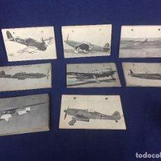 Militaria: AVIACION MILITAR FICHA TECNICA AVIONES CAZA BOMBARDEO TRANSPORTE 9 X 15 CM. Lote 110521359
