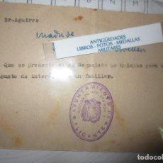 Militaria: II GUERRA MUNDIAL DOCUMENTO NEGOCIADO ALICANTE SOLDADO ESPAÑOL DIVISION AZUL F LLORET 1942. Lote 110700947